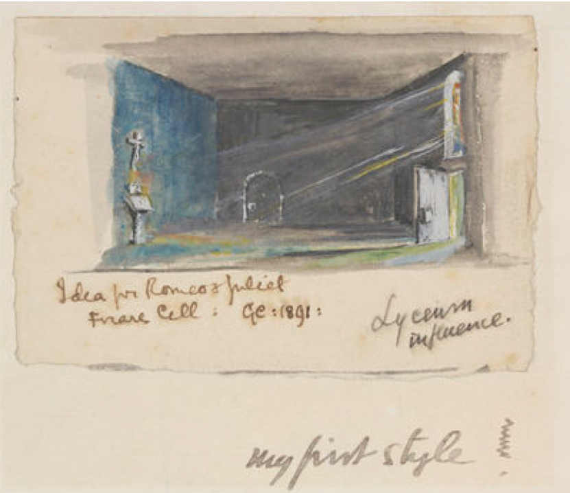 Sketch by Edward Gordon Craig for a 1891 set design for Romeo and Juliet (copyright Gordon Craig Estate)