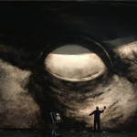 Cloth by designer and artist John Macfarlane for a 2019 production of The Flying Dutchman (copyright John Macfarlane)