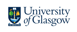 Logo of the University of Glasgow showing the coat of arms next to the university name in blue on a white background