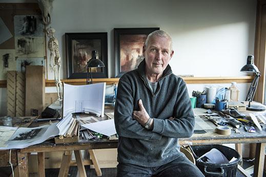 Colour portrait photograph of John Macfarlane, artist and theatre designer (copyright John Macfarlane)